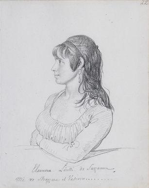 JEAN-BAPTISTE WICAR (1783–1859) | PORTRAIT OF ELEONORA LICETTI DI SARZANNA | Klassik Stiftung Weimar