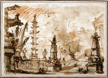 GIOVANNI BATTISTA PIRANESI (1720–1778) | Forum with Palace | Private collection
