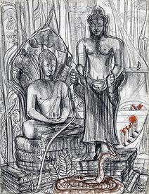 Buddha Vishnu and a Snake, Angkor