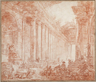 HUBERT ROBERT (1733–1808) ⎜Ruins of the Baths of Diocletian ⎜ Private collection, USA