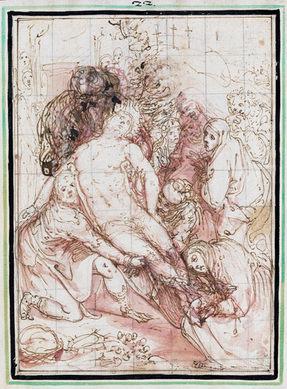 GIOVANNI DE' VECCHI (1543–1615)   The Entombment   Cleveland Museum of Art