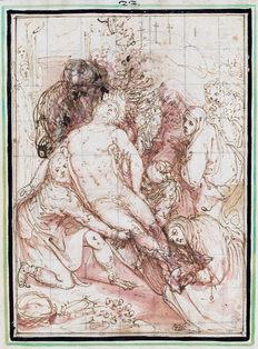 GIOVANNI DE' VECCHI (1543–1615) | The Entombment | Cleveland Museum of Art