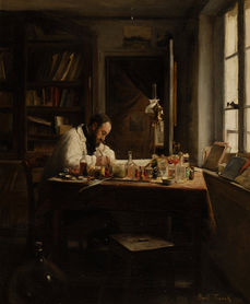 FRANCK BAIL (1858-1924) ⎜Portrait of the Artist's Brother, Joseph Bail, in his Studio ⎜ Private collection, London