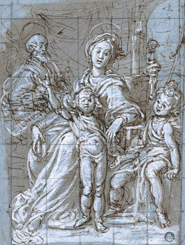 GREGORIO PAGANI (1558-1605)   The Holy Family with the Baptist   Metropolitan Museum of Art, New York