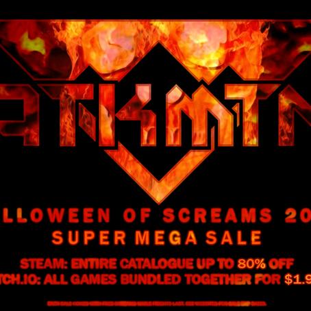 ATKMTN HALLOWEEN OF SCREAMS 2020 SUPER MEGA SALE COMMENCES