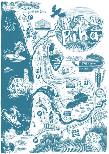 Map of Piha