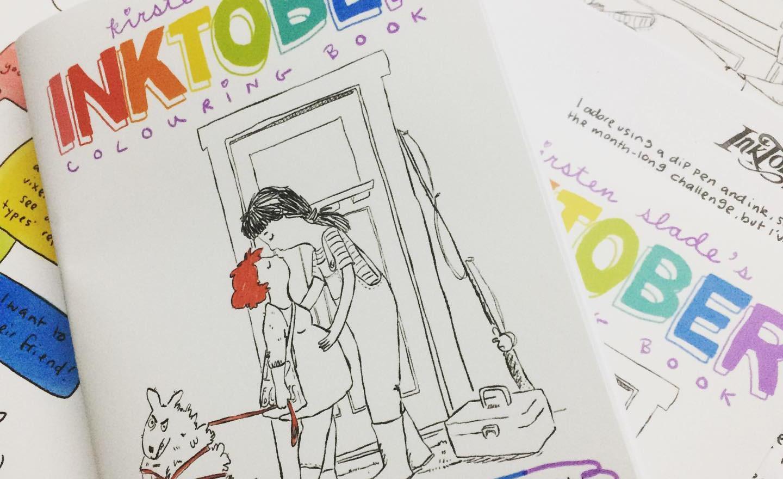 2019 Inktober Colouring Book