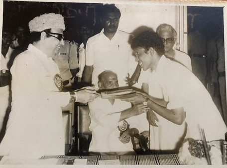 with the Late Chief Minister of Tamil Nadu, Shri MGR