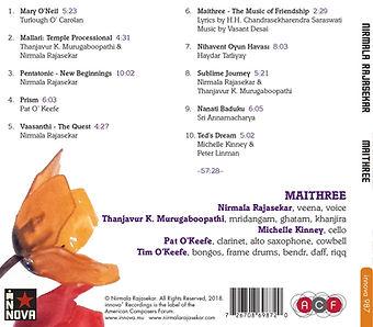 Maithree Music of Friendship Nirmala Rajasekar Boopathi veen mridanam