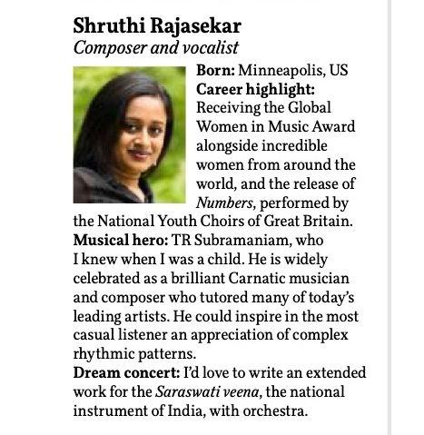 BBC Rising Star Shruthi Rajasekar