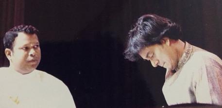 with Maestro U Srinivas