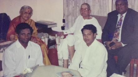 with Bharat Ratna Smt. MS Amma