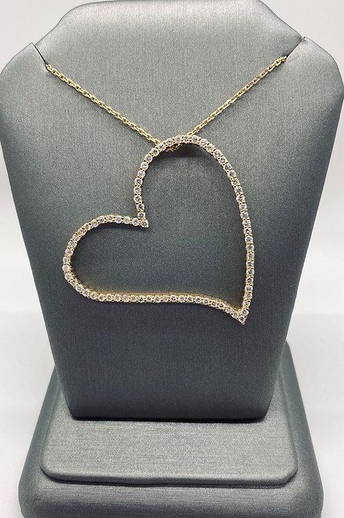 Ladies Diamond Heart Pendant