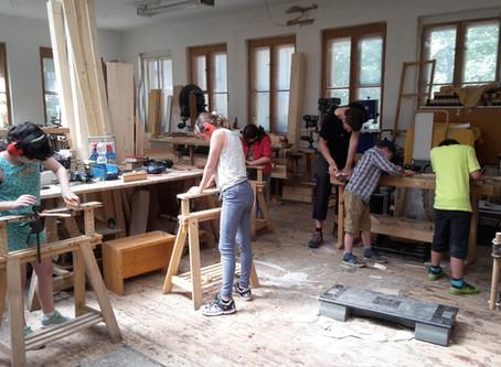 Workshopwoche WhatsArt mit Upcycling und DIY vom Werkhaus Potsdam