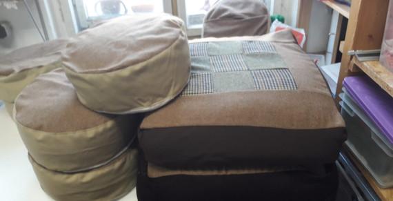 Textil_Yogakissen und Sitzkissen