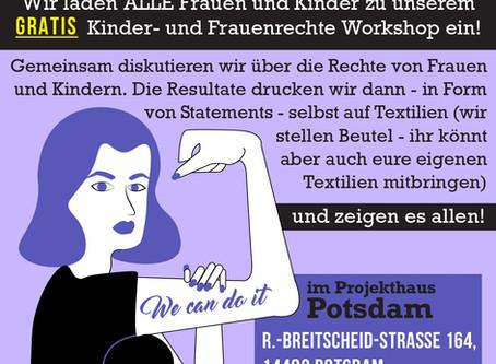 Siebdruck-Workshop für Frauen und Kinder