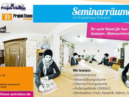 Seminarräume im Projekthaus Potsdam