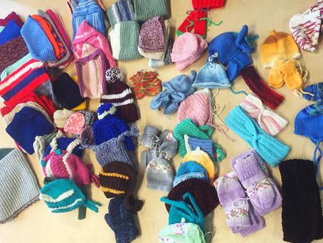 Wollspende für gemeinnütziges Projekt
