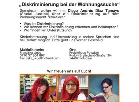 """18.04.2019: Weiterbildung für Frauen: """"Diskriminierung bei der Wohnungssuche"""""""