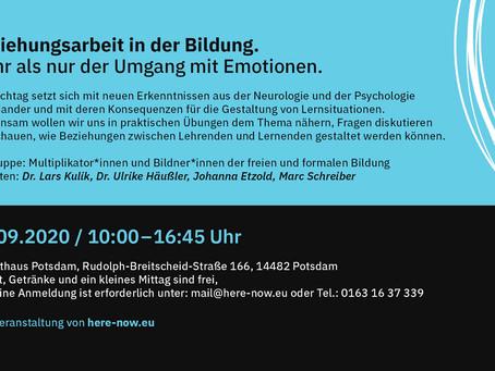 19.09.2020 Fachtag: Beziehungsarbeit in der Bildung