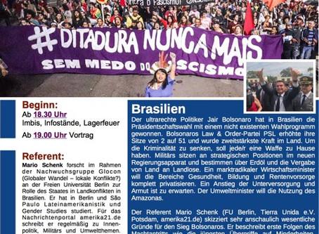 """Themenabend Brasilien: Donnerstag, den 11. April """"Brasilien"""""""