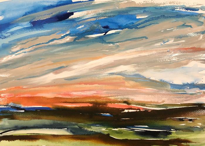 Pink Sky Over Dartmoor