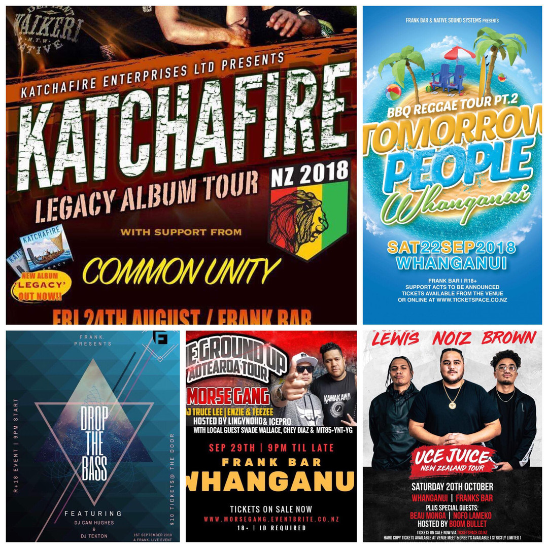 Gig Posters Frank Bar Whanganui
