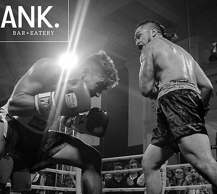 Boxing match at indoor bar Frank bar Whaganui