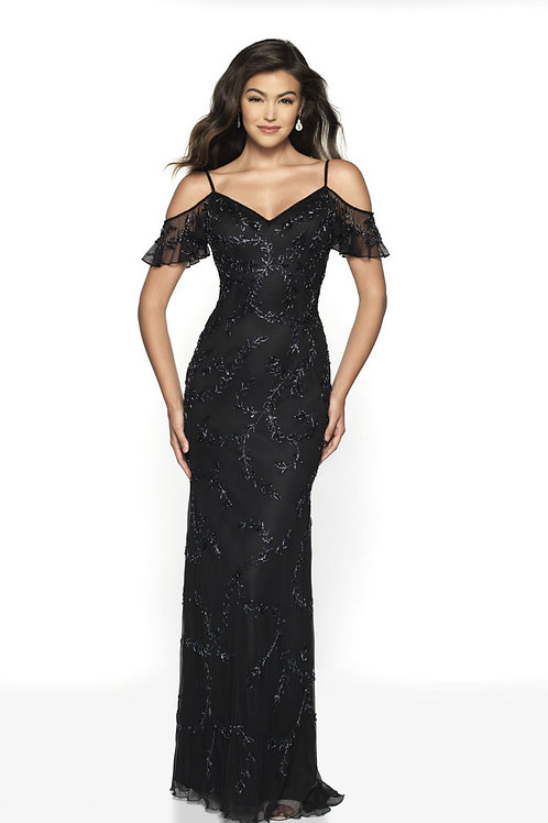 Black Sweet Sleeves Gown