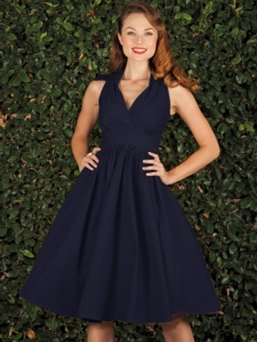 Navy Swing Dress