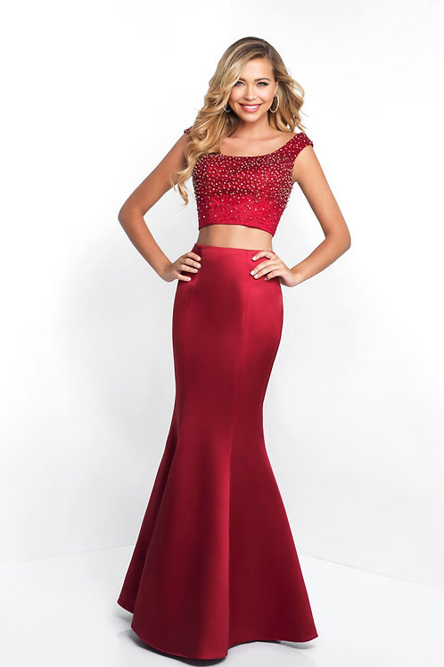 Red Two-Piece Gown