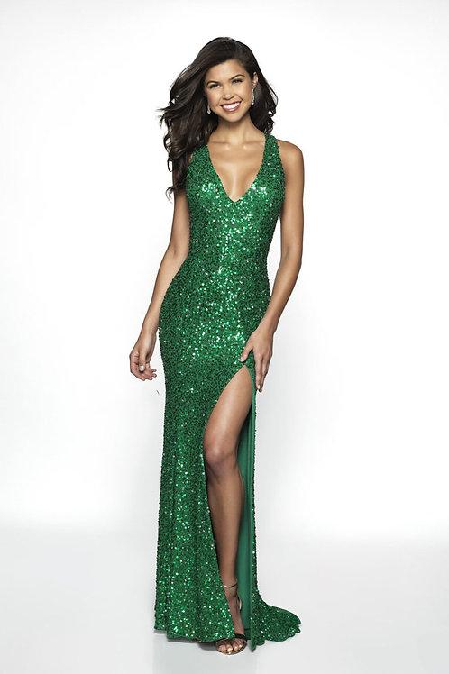 Green Glitter Love Gown