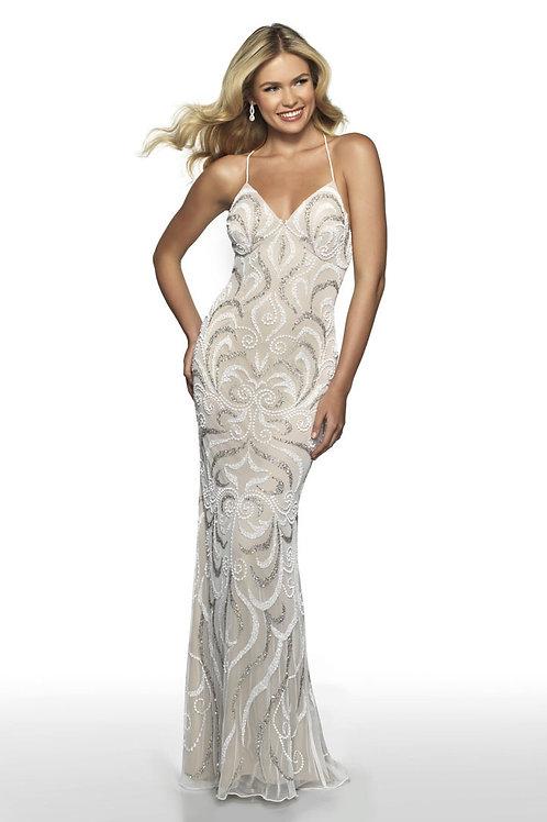 Cream Starburst Gown