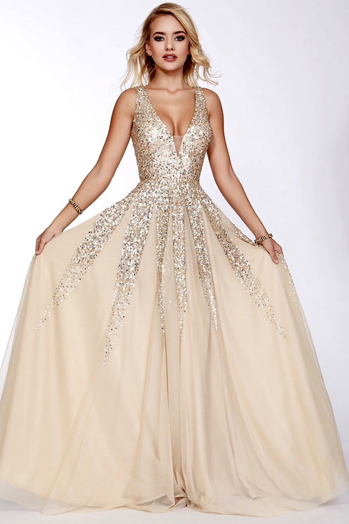 The Glam Within Gown in Shimmery Gold