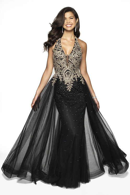 Black Dramatic Gown