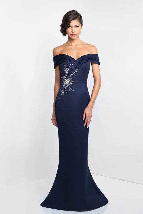 Blue Embellished Gown