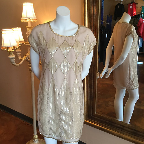 Golden Goddess Tunic Dress