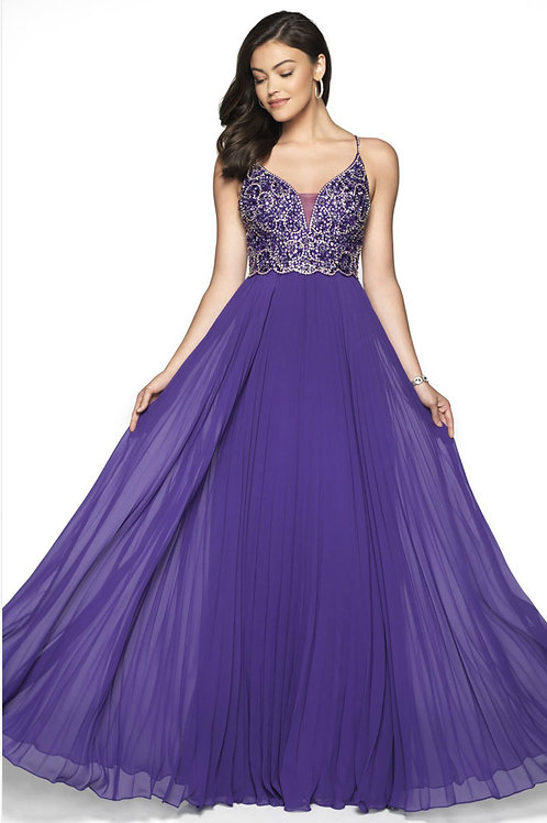 Purple Strappy Gown