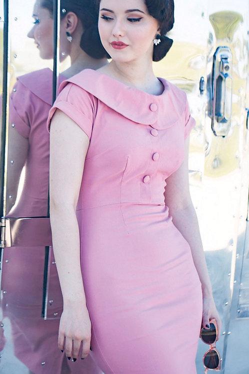 Blush Buttons Dress