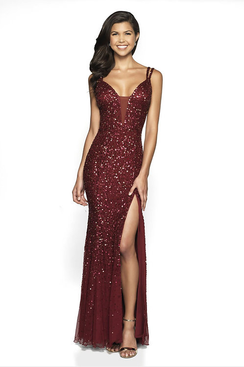 Burgundy Ultra Sexy Gown