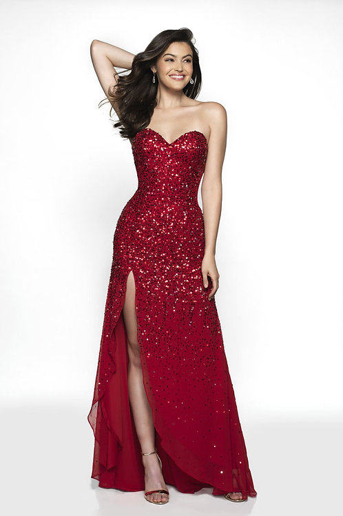 Red Sweetheart Glitter Gown