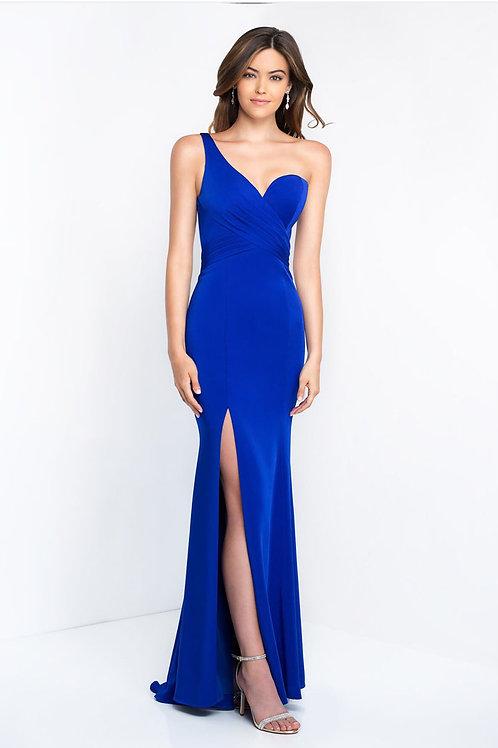 Blue One-Shoulder Gown