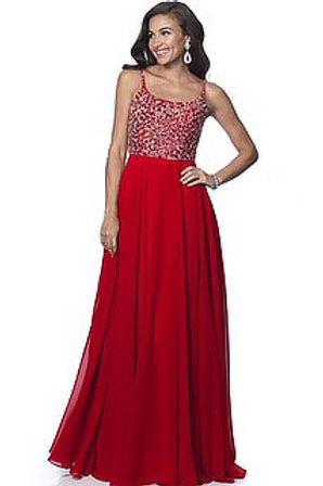Red Time to Shine Gown