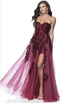 Royal Getaway Strapless Gown