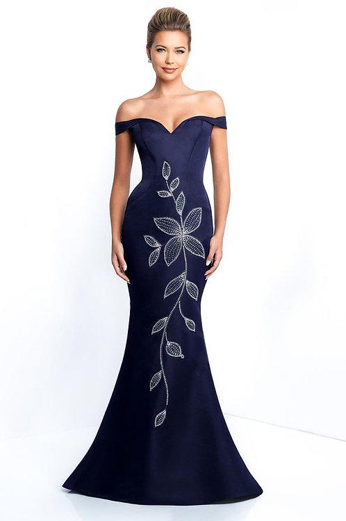 Navy Flower Gown