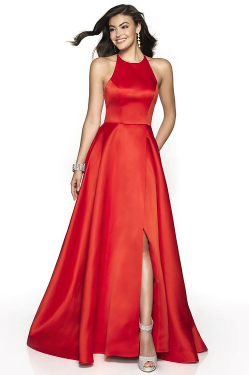 Red Strappy Ballgown