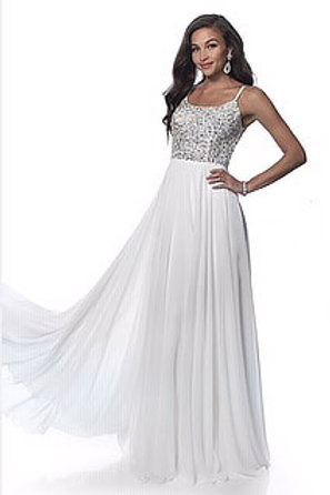 Pastel Rhinestone Top Gown