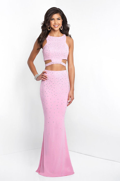Pink Halter Cutout Gown