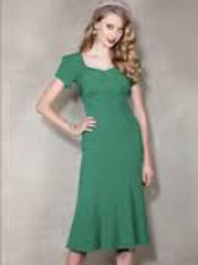 Rich Green Fantasy Dress