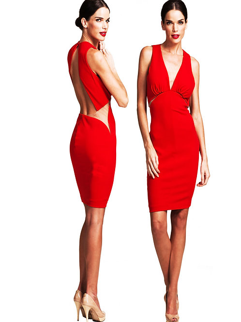 The Cut-Out Red Dress